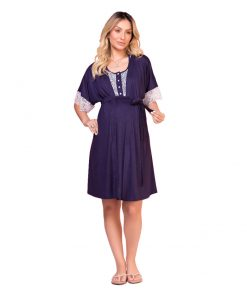 Jogo de camisola com robe gestante