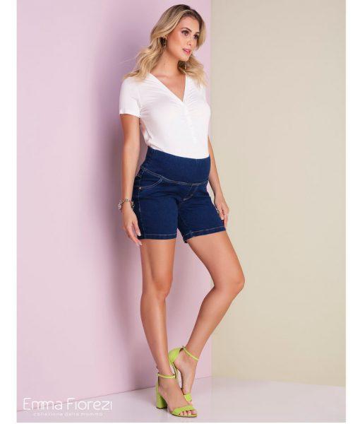 Shorts jeans básico gestante