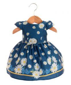 Vestido Menina Azul com flores
