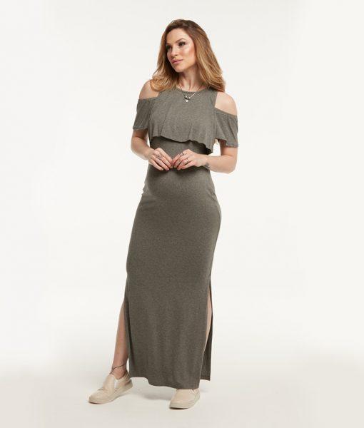 Vestido Longo Cropped Amamentação Perfil