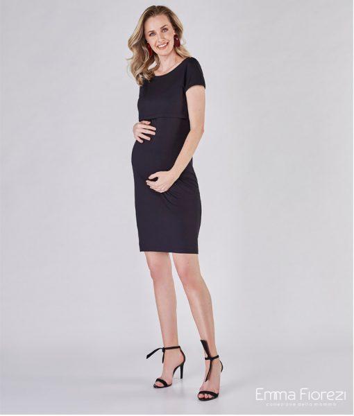 vestido com cropped gestante basic preto