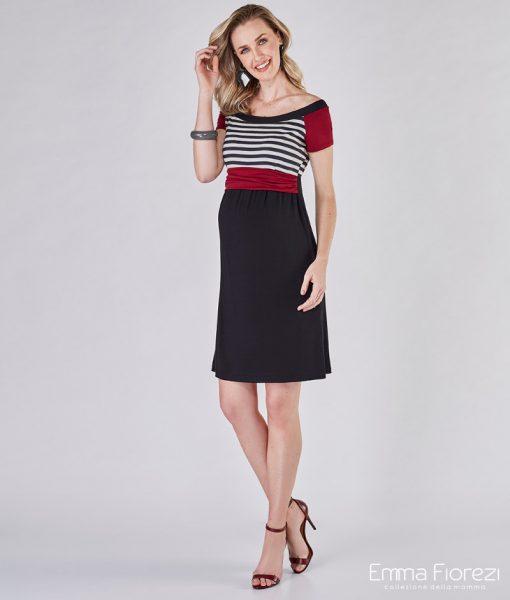 vestido gestante com mix de cores