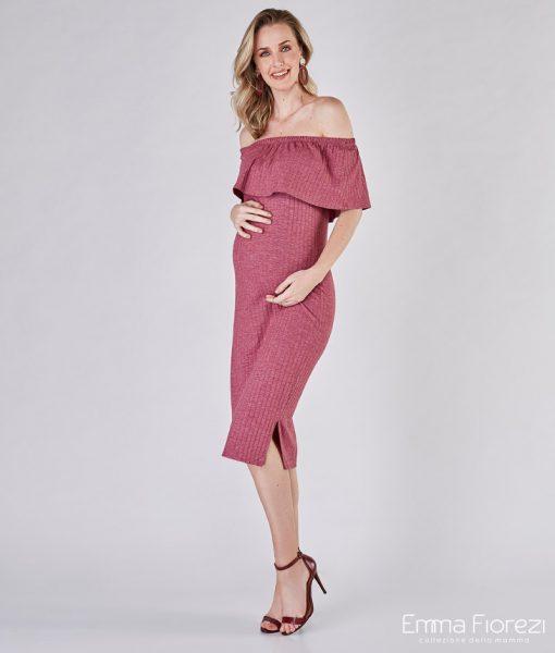 vestido midi gestante ciganinha rose