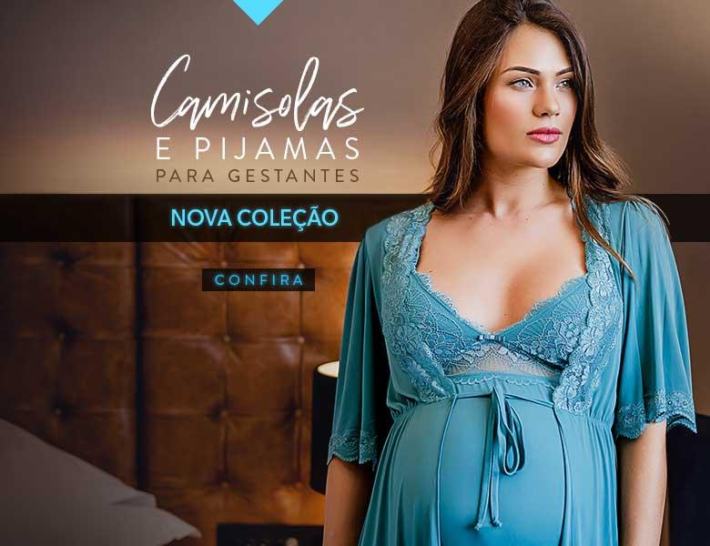 Camisolas e Pijamas para Gestantes Nova Coleção