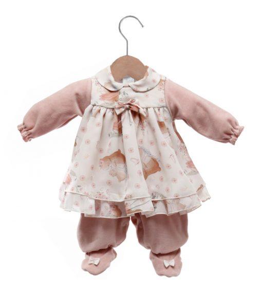 Macacão bebê com vestido duda
