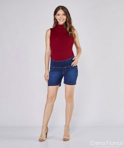 Shorts jeans gestante super strech