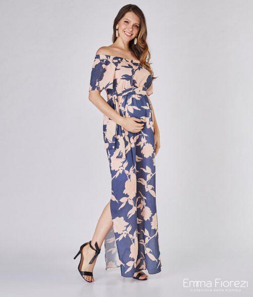 vestido gestante logo ciganinha com aberturas laterais