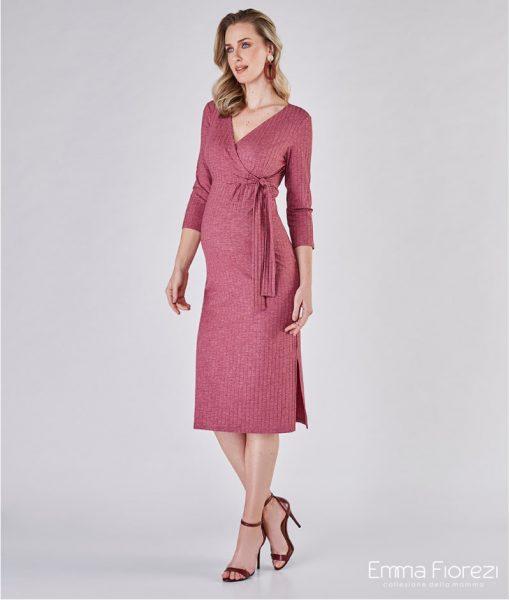 Vestido midi amamentação rose