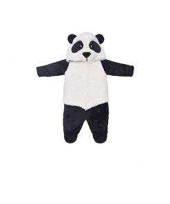 Macacão com capuz panda
