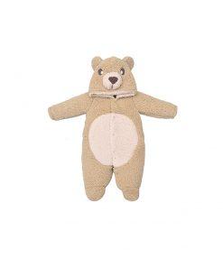 Macacão com capuz urso