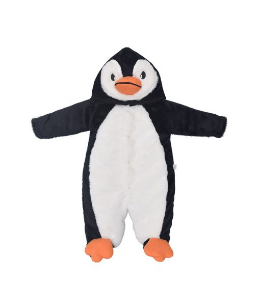 Macacão com capuz pinguim