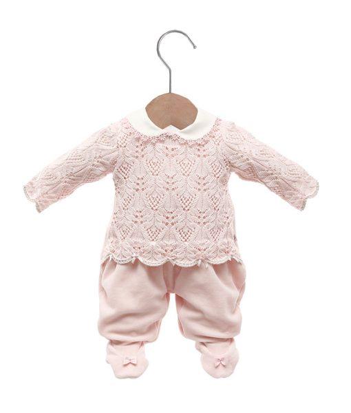 Macacão malha e tricot elisa rosa