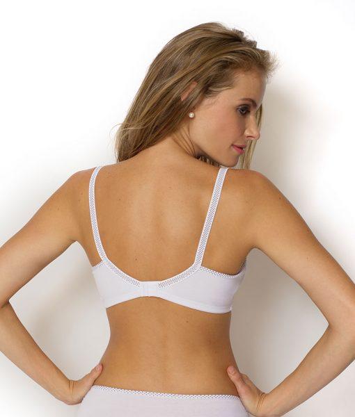 sutia amamentação bolinha branco costas