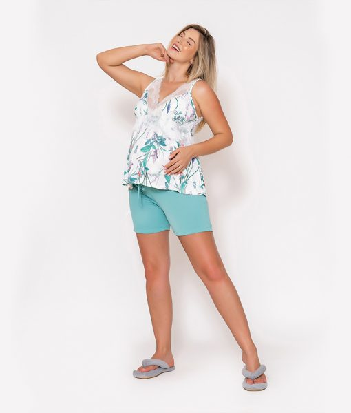 Pijama Regata Estampada com Shorts