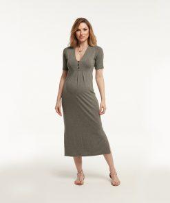Vestido Midi Fenda Lateral