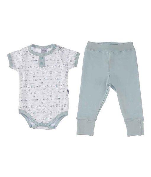 Conjunto body e calça bunny azul