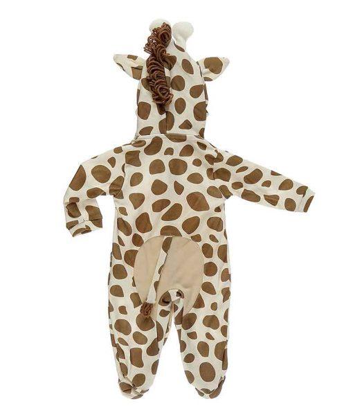 Macacão com capuz girafa costas