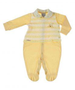 Macacão com Tricot Amarelo