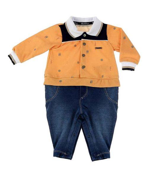 Macacão Jeans Polo