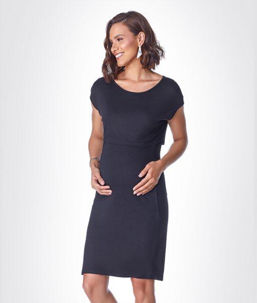 Vestido com cropped basic preto Detalhe