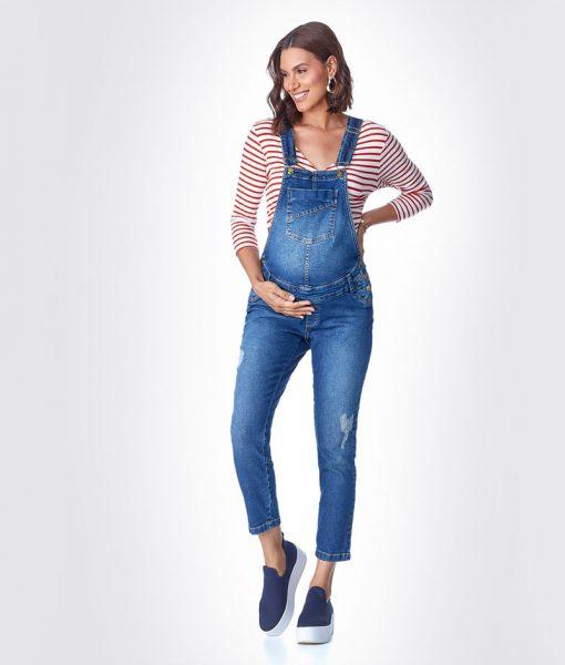 Macacão Jeans Classic com Ajuste