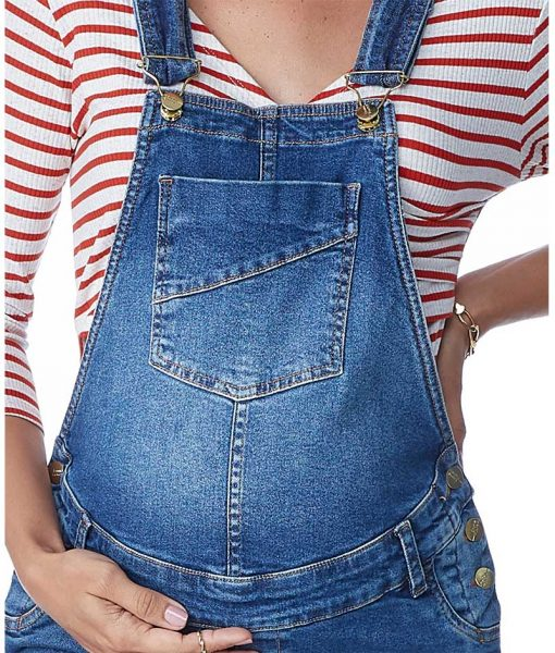Macacão Jeans Classic com ajuste detalhe