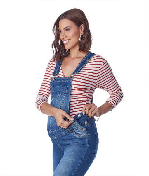 Macacão Jeans classic com Ajuste Perfil