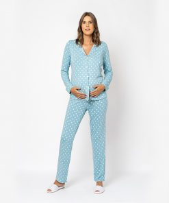 Pijama Aberto Poa Blue Moon