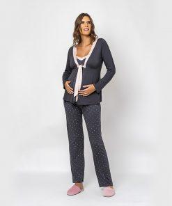 Pijama 3 peças poa dots