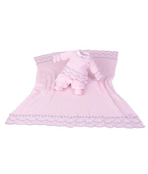 Kit Maternidade Plush e Tricot Gabriela Rosa