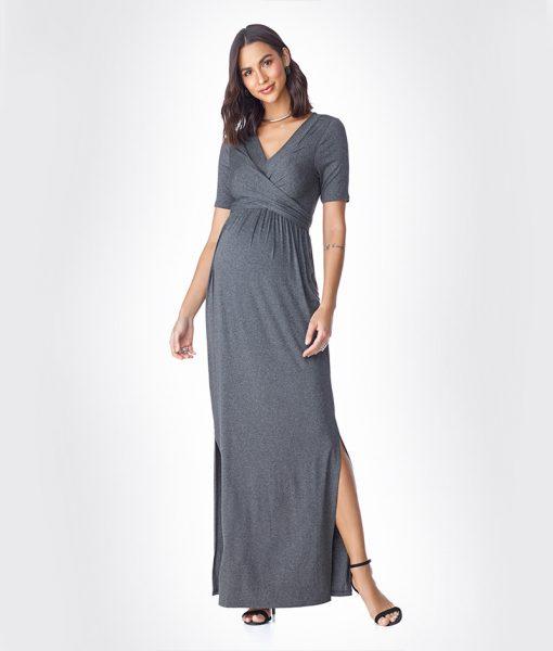Vestido Longo Basic Mescla