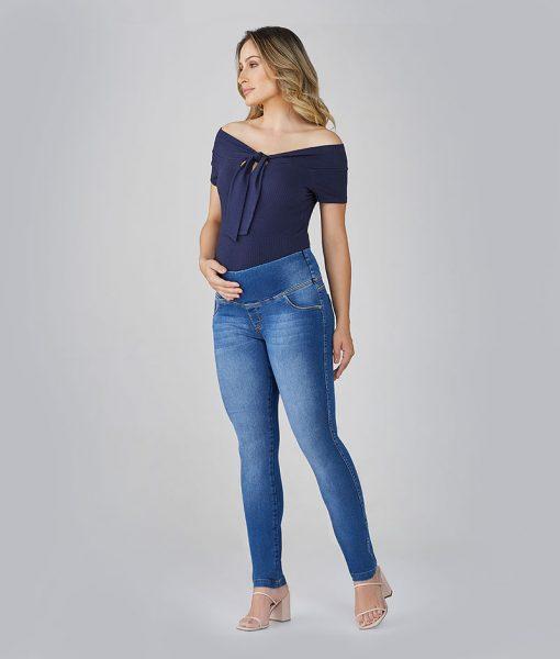Calça Jeans Gestante Skinny essential Power Elastic