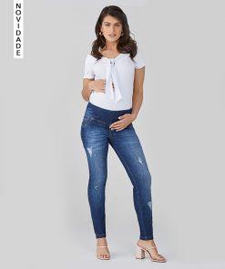 Calça Jeans Gestante Skinny Essential Modern
