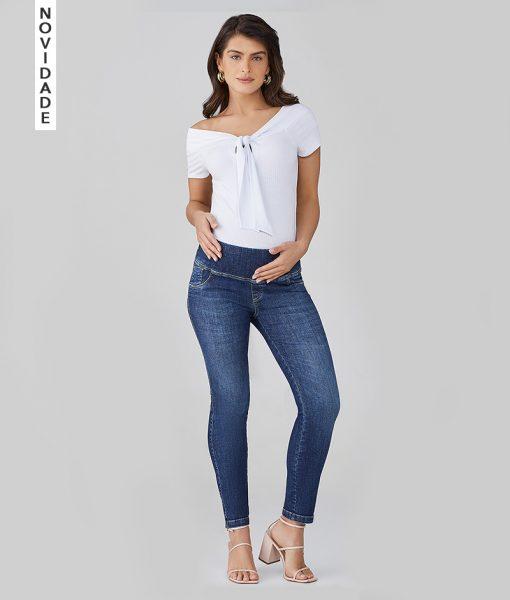 Calça Jeans Gestante Skinny soft Intensive