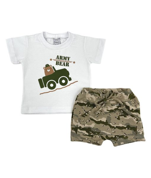 Conjunto Camiseta Army Bear